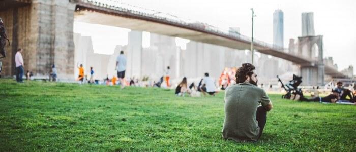 Schreiben im Stadtpark