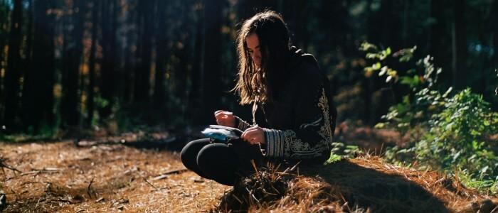 Schreiben im Wald